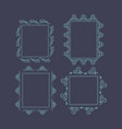 ornament decorative frame rectangle collection 01 vector image vector image