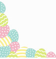 painted egg corner frame painting shell heart vector image vector image