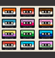 pattern with old audio cassettes colorful vector image vector image