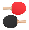 ping pong paddles table tennis rackets top view vector image