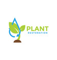 plant restoration graphic design template vector image vector image