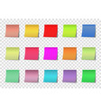 post note color stickers isolated on vector image vector image