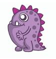 Purple monster for kids t-shirt design vector image vector image