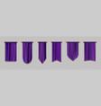 purple pennant flags quilt textile pendants vector image