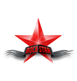 Red star with Rock Star banner vector image vector image