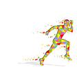 Running Pixel Man vector image vector image