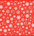 santa says hohoho red pattern seamless texture vector image vector image