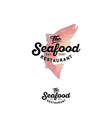 seafood restaurant logo salmon vintage style vector image
