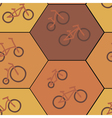 seamless background with bicycle vector image vector image