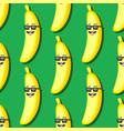 seamless cartoon banana pattern in sunglasses on vector image vector image
