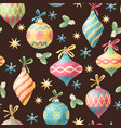 seamless christmas decoration pattern vector image vector image