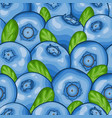 seamless pattern blueberry background symbol of vector image vector image