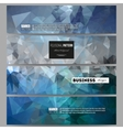 Set of banners Abstract blue polygonal background vector image vector image