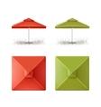 Set of Red Green Patio Outdoor Beach Umbrella vector image vector image