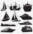 ship silhouettes vector image vector image