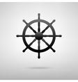Ship wheel black icon vector image vector image