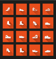 Shoes icons long shadow vector image