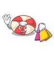 shopping swim tube character cartoon vector image