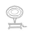 sketched gramophone talking machine vintage vector image vector image