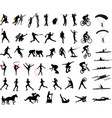 sport silhouettes collection vector image vector image