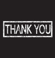 stamp text thank you vector image vector image
