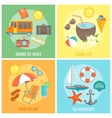 Summer Isolated Icon Set vector image