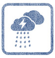 thunderstorm clouds fabric textured icon vector image vector image