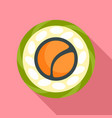 top view sushi icon flat style vector image
