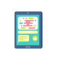 touchscreen mobile with empty chat icons vector image vector image
