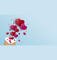valentines day banner design vector image vector image