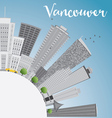 Vancouver skyline with gray buildings vector image vector image