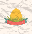 Vintage label with Easter egg vector image vector image