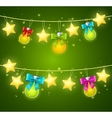 Xmass or Holiday Background vector image vector image