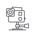 go pro video camera line icon sign vector image