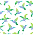 Seamless Nature Background with Hummingbirds vector image
