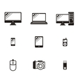Set of Device Icon Design Flat vector image