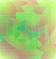 Abstract foliage green pattern geometric vector image vector image