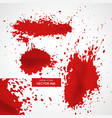 abstract red ink splatter texture background vector image vector image