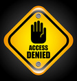 access denied vector image