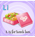 Alphabet L is lunch box vector image