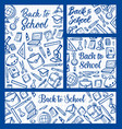 back to school education supplies on notepad vector image vector image