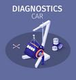 banner offers professional diagnostics car service vector image vector image
