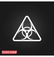 biohazard symbol icon isolated vector image vector image