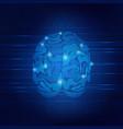 brain wave vector image