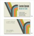 Business card Modern design vector image vector image