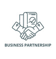 business partnership line icon business vector image