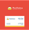 cake logo design with business card template vector image vector image
