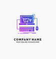 cart online shop store game purple business logo vector image