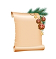 Christmas blank scroll paper on white background vector image vector image