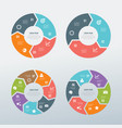 circular business infographic set vector image vector image